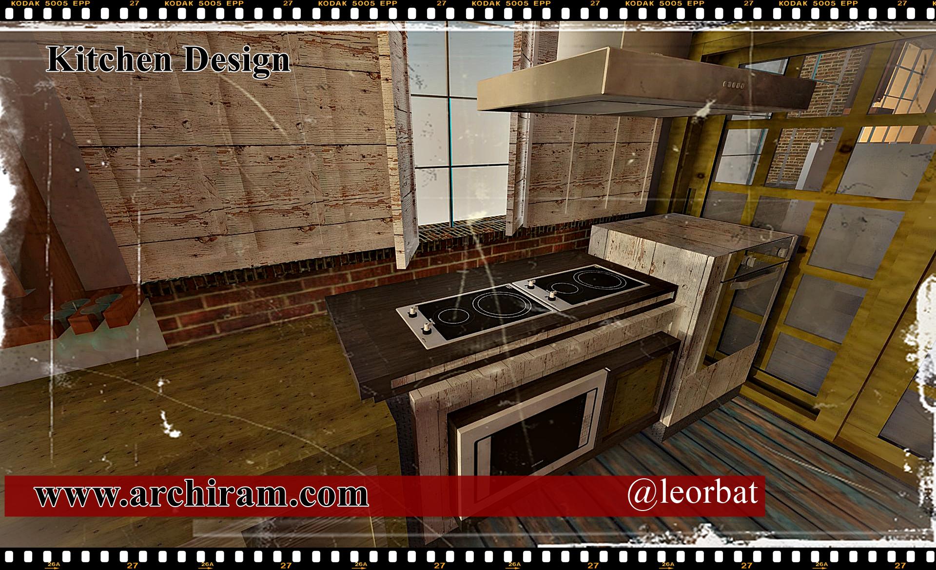Cucina moderna con moduli cottura ad induzione